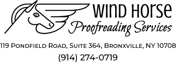 Wind Horse Proofreading Services Logo